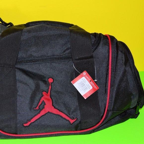 ba0a09755ba Nike Bags   Air Jordan Duffle Duffel Bag Black And Red   Poshmark